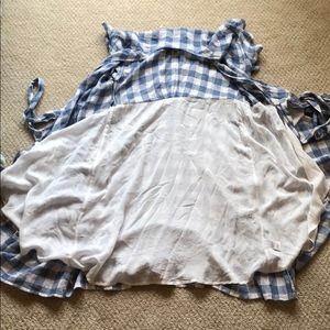 Rails Dresses - Rails Gingham Blue Wrap Dress Size Xs